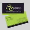 Cartão de Visita  1000 unid – Papel Couche 300 grs. 4×4